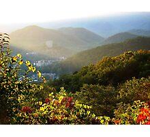 Sunrise Over Gatlinburg, Tennessee GSMNP Photographic Print
