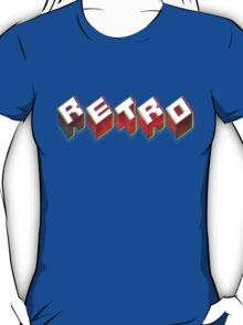 RETRO. 3D Typography cool 1980s/80s Design. T-Shirt