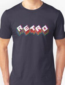 RETRO. 3D Typography cool 1980s/80s Design. Unisex T-Shirt