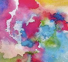 Rainbow Watercolor Paint Bleeds by TDSwhite
