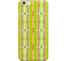 Red, Yellow, Green and White Abstract Design iPhone Case/Skin