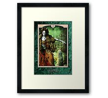 Lhiannon - Green Marble Framed Print