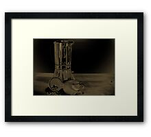 Coffee on the table Framed Print