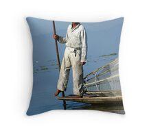 Fisherman Inle Lake (2) Throw Pillow