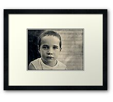 Childhood is a Solemn Business Framed Print