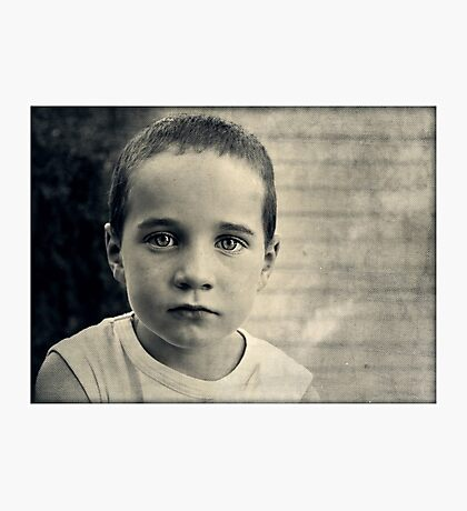Childhood is a Solemn Business Photographic Print