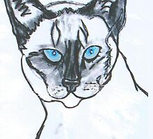 Siamese Cat by LeonaPaints