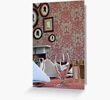 Wine & Dine Greeting Card