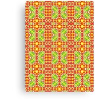 Red, Green and Yellow Abstract Design Pattern Canvas Print