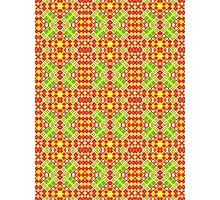 Red, Green and Yellow Abstract Design Pattern Photographic Print