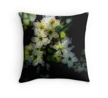 Hawthorn Blossom Throw Pillow