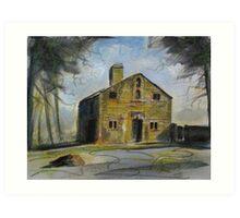 'Ruined cottage, Harewood Estate' Art Print