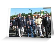 Lest we forget.. Tewantin soldiers marching Greeting Card