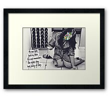 No one looks back on their life and remembers the nights they had plenty of sleep Framed Print
