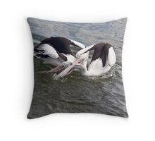 Pelican Fight 8 Throw Pillow