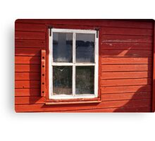 Window on red wall Canvas Print