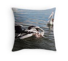 Pelican Fight 11 Throw Pillow