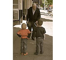 The boys meet Sid Photographic Print
