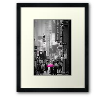 Walking down Broadway Framed Print