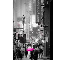 Walking down Broadway Photographic Print