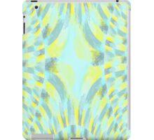 Blue, Yellow, and Soft Black iPad Case/Skin