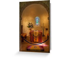 St. Margaret's Chapel Interior Greeting Card