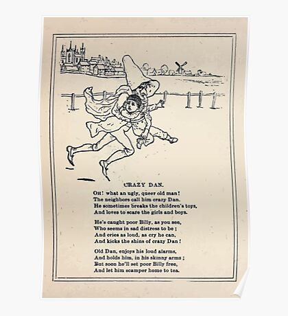 Miniature Under the Window Pictures & Rhymes for Children Kate Greenaway 1880 0030 Crazy Dan Poster