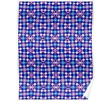 Blue, Purple and White Abstract Design Pattern Poster