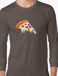 Pizza - 8 bit Long Sleeve T-Shirt