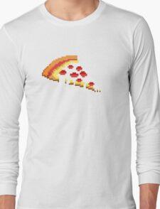Pizza - 8 bit Long Sleeve T-Shirt