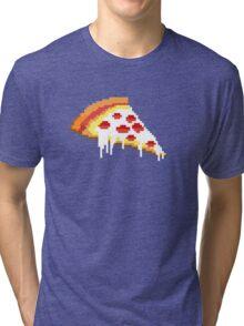 Pizza - 8 bit Tri-blend T-Shirt