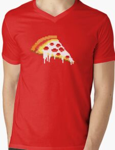 Pizza - 8 bit Mens V-Neck T-Shirt