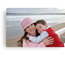 Mummy and Reuben at Ocean Grove Canvas Print
