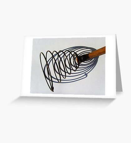 U is for utensil, a kitchen one. Greeting Card