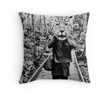 Leopard animal head Throw Pillow