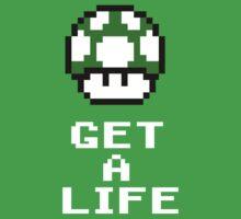Get a life - pixel art Kids Tee