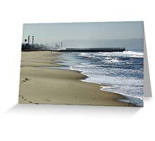 SURF AND SAND AT PLAYA DEL REY Greeting Card