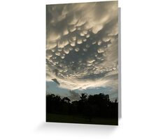 Bizarre Mammatus Clouds After a Storm Greeting Card
