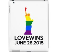 LOVE WINS JUNE 26,2015 iPad Case/Skin