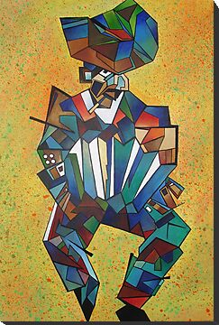 The Accordian Player (Cubism) by taiche