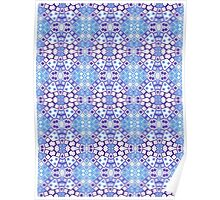 Light Blue, White and Purple Abstract Design Poster