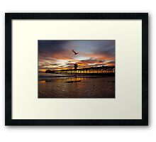Seal Beach Pier Framed Print