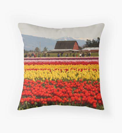 Tulip Field Throw Pillow