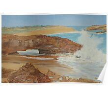 Oil on Canvas, Natures Arch, Limestone Coast, Beachport. S.A.  Poster