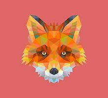 Geometric Fox by KingdomofArt