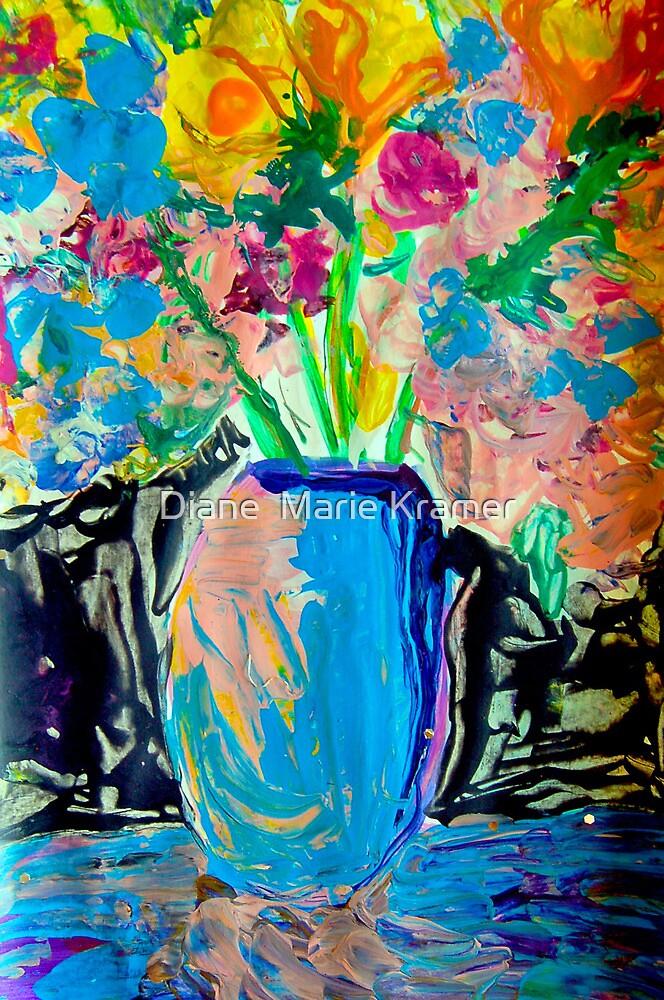 Imagined Flowers by Diane  Kramer