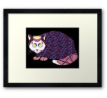 Abstract Cat [WHITE] Framed Print