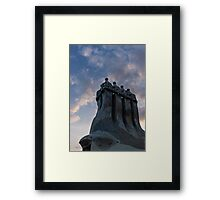 Whimsical Chimneys - Antoni Gaudi, Casa Batllo, Barcelona, Spain Framed Print
