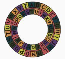 Caesar's Shift Cipher Love (Black) Baby Tee