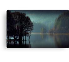 Morning sun moves up Loch Ard Canvas Print